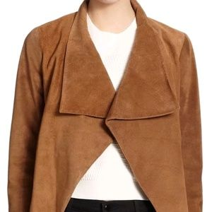 Theory Suede Leather Jacket Size Small